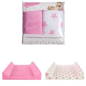 2er Set Wickelauflagenbezüge, pink, für Keil-Wickelauflagen