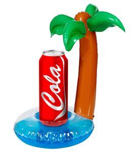 Aufblasbare Palme als Dosenhalter - Bierhalter Höhe 30 cm