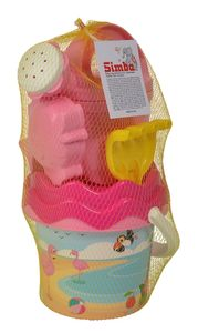 Simba Outdoor Spielzeug Sand & Strand Flamingo Baby Eimergarnitur 107114405