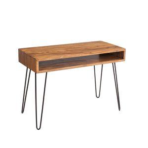 Retro Schreibtisch SCORPION 110cm Sheesham Holz stone finish Hairpin legs Palisander Bürotisch Arbeitstisch