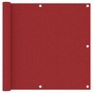 Balkon-Sichtschutz Balkonverkleidung Balkonbespannung | Sonnenschutz Windschutz Modern Rot 90x500 cm Oxford-Gewebe | 9591