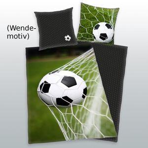 Bettwäsche Fußball 135 x 200 cm, Renforcé
