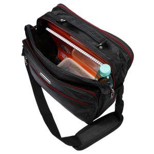 Herren Arbeitstasche XL Umhängetasche Schultertasche Flugumhänger Messenger Bag Boardcase Querformat Herrentasche hochwertiges Nylon schwarz