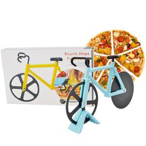 Miixia Blau Pizzaschneider Fahrrad Pizza Cutter rostfreier Stahl Antihaft-Beschichtung