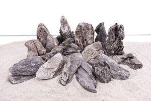 Aquarium Natursteine Mini Landschaft Seiryu Steine grau 25 Kg Mix Größe M bis XL
