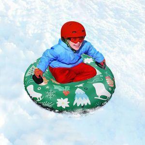 Skiring mit Griff PVC Schneeschlitten-Reifenschlauch für Kid Ski Pad Outdoor Sports HQJ200820579