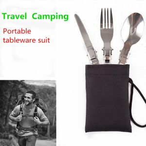 3 In 1 Tragbare Faltbare Faltbare Outdoor Camping Camping Picknick Edelstahl LZX71007736