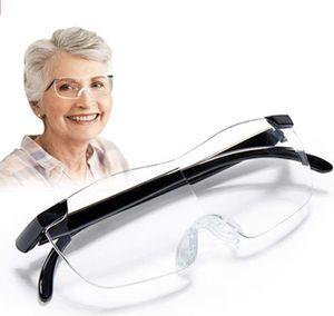 Lupenbrille als Lesehilfe und Sehhilfe Blaulichtfilter Brillenlupe Vergrößerungsbrille lese Lupenbrille für Brillenträger Senioren Leselupe Randlose Vorsetzbrille Lupe optische Vergrößerung auf 160%