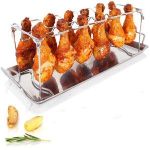 Hähnchenschenkel-Halter Grill-Zubehör Halterung Edelstahl für 12 Hähnchen-Keulen