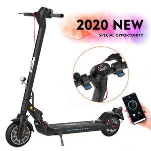 E-Scooter (ABE) mit Straßenzulassung (eKFV) Klappbar Elektroroller Scooter mit 12/20 Km/h Tempomat bis 20 km Reichweite Elektro Scooter aufblasbares Wabenrad LCD-Display Tragbar Vorderen und Hinteren Rückleuchten