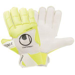 uhlsport Pure Alliance Starter Soft Torwart Handschuhe - weiß/gelb 11