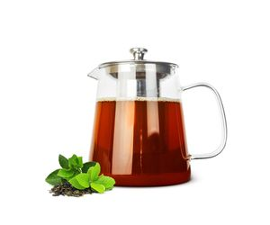 Sendez Teekanne 1,2L mit Edelstahl Sieb Teebereiter Glaskanne Teeset Kanne