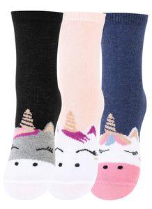 Cotton Prime® 6 Paar Kinder Socken - Einhorn 31-34