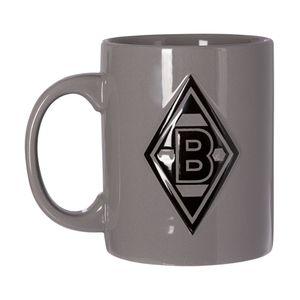 "Borussia Mönchengladbach Tasse ""Relief"" grau/schwarz"