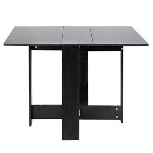 Klapptisch - Klapptisch  Esstisch Beistelltisch Schreibtisch Ablagefläche Tisch | 103x76x73.4cm Schwarz
