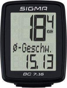 Fahrradcomputer Sigma BC 7.16 Fahrradtacho Tachometer Geschwindigkeit kabelgebunden