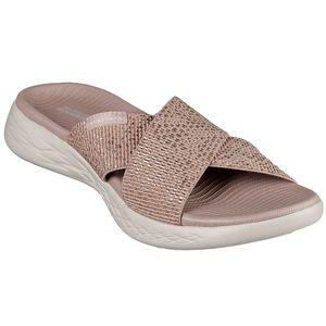 Skechers O-T-G Womens Sandals ON-THE-GO 600 GLISTENING Sandalen/Outdoor-Sandalen Women Gold, Schuhgröße:39 EU