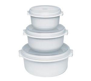 Emsa Micro Family Starter Set, Weiß, 0,5/1,0/1,5 L, 459061200
