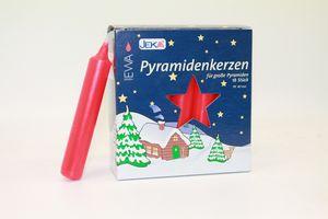 Pyramidenkerzen 18/100 rot 17x100 mm 18 Stück im Pack für große Pyramiden