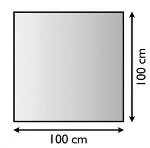 Funkenschutzplatte / Bodenplatte Lienbacher silber 4-Eck 100x100cm