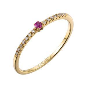 Ring 54 - 585 Gelbgold - Brillanten Rubin