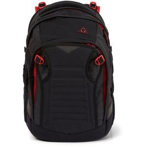 Satch Match Schulrucksack, Fire Phantom, Farbe/Muster: black, red