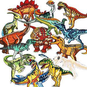Bügelflicken Kinder, 15 Stück Patches zum Aufbügeln Dinosaurier Aufnäher Applikation Flicken Zum Aufbügeln für DIY T-Shirt Jeans Kleidung Taschen,Flicken Patches