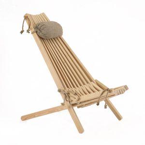 Liegestuhl EcoFurn Lärche mit Kissen !  Klappstuhl Gartenstuhl EcoChair
