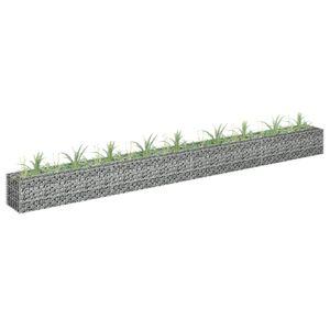 Gabionen-Hochbeet Garten-Hochbeet Hochbeet Verzinkter Stahl 360×30×30 cm