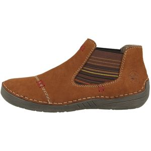 Rieker Damen Schuhe Stiefeletten Chelsea Boots Leder 52590, Größe:40 EU, Farbe:Braun