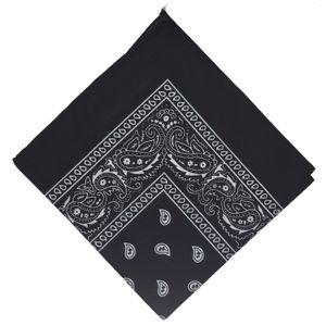 BOOLAVARD 100 % Baumwolle Paisley Bandana Halstuch Kopfbedeckung/Haar Band Schal Hals Handgelenk wickeln Band Headtie (Black)