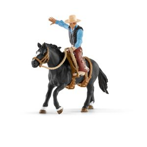 Schleich Farm World 41416 Saddle bronc riding mit Cowboy