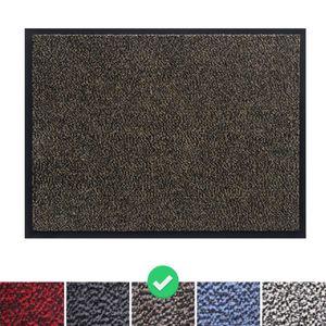 Fußmatte Schmutzfangmatte 90x150 cm, Farbe: Braun, Türmatte Fußabtreter Türvorleger