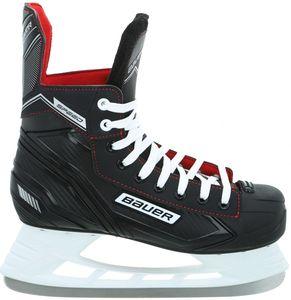 BAUER Speed Skate JR Kinder Schlittschuh, Größe:5 - 38 1/2 EU, Farbe:schwarz-weiss-rot-silber