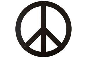 Hansmeier | Wanddeko aus Metall | 40 x 40 cm | Peace - Frieden | Deko Industrial