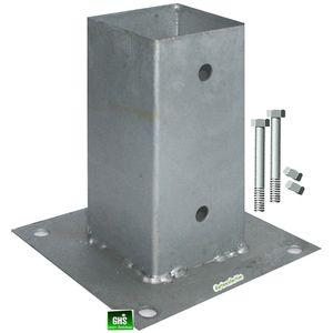 Aufschraubhülsen 9x9 cm 4-er Set mit 8 Schrauben 10x110 mm