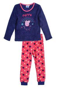 Peppa Wutz Kinder Kuscheliger Schlafanzug mit Stickerei, 2-teilig, lila, Größe:98