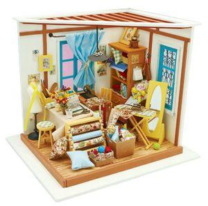ROBOTIME Miniatur Puppenhaus Kit DIY Holz Haus (Lisa's Tailor)