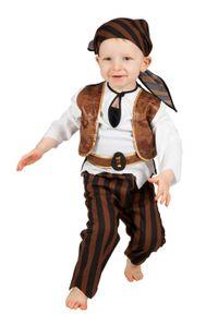 Wilbers Kinderkostüm Baby Pirat  Gr. 86 - 98 cn - Kleinkinder Piraten Seeräuber 98 cm