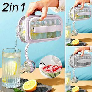 2 In 1 Ice Ball Maker Tragbarer Kreativer Eiskessel Kubikbehälter Eiswürfel Runde Tablettform DIY Iattice Kettle Bar Küchenwerkzeug