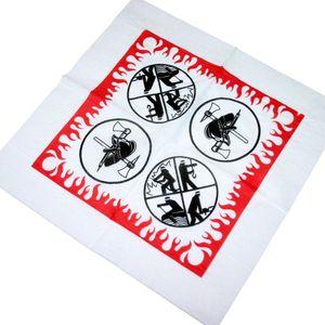 50 Tissue Papier Servietten 2-lagig 33x33cm im Viertelfalz Feuerwehr
