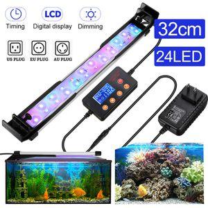 Meco 32CM LED Aquarium Beleuchtung Lampe Aufsetzleuchte Dimmen LCD Display