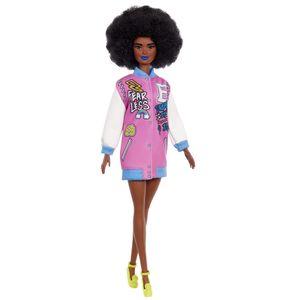 Barbie Fashionistas Puppe mit Letterman Jacke, Anziehpuppe