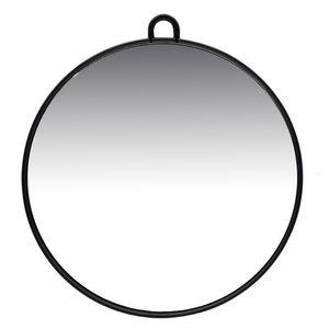 Friseurmeister Spiegel 27cm - in Schwarz - Friseurbedarf Zubehör Tragbarer Hand Friseurspiegel mit Griff und Haken zum Aufhängen für Salons, Barber, Zuhause und co.