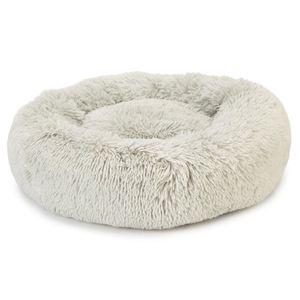 Flauschiges Katzenkissen rundes Katzenbett in der Farbe Grau zum Relaxen und wohlfühlen