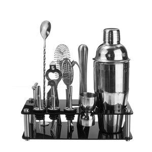 18x Cocktail Shaker Mixer Drink Bartender Martini Bar Tool + abnehmbarer Halter
