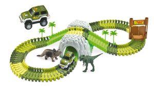 Magic Traxx Dino-Park, Mini Set mit Tunnel 109-teilig