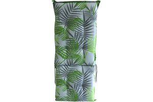 Gartenstuhl Auflage BORKUM Hochlehner grau grün Palme