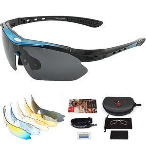 arteesol Fahrradbrille Sonnenbrille Sportbrillen Polarisiert Brille UV400 Schutz Schwarz Blau