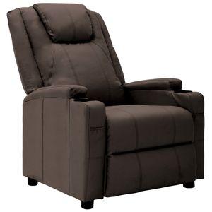 Möbel® Fernsehsessel Relaxsessel,Liegesessel,TV Sessel,Relax Liegestuhl Komfortabel Für Wohnzimmer Braun Kunstleder🌈4696
